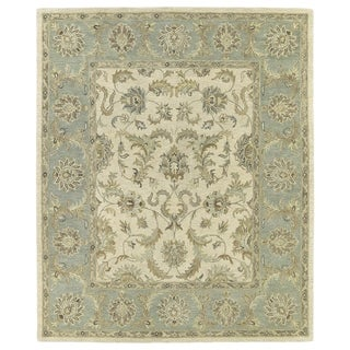 Hand-Tufted Joaquin Beige Kashan Wool Rug (10' x 14')