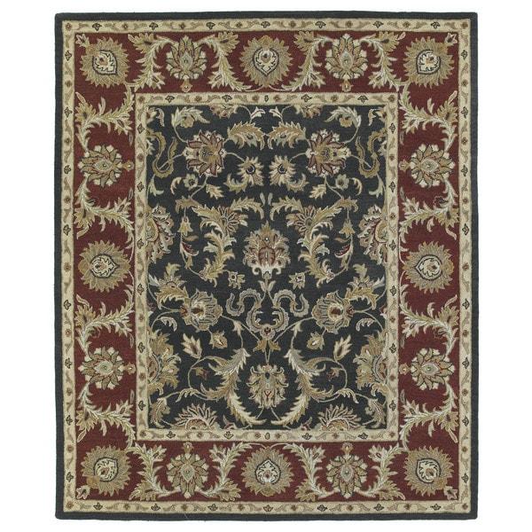 Hand-Tufted Joaquin Black Kashan Wool Rug - 10' x 14'