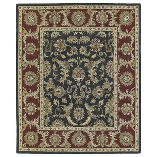 Hand-Tufted Joaquin Black Kashan Wool Rug - 8' x 10'