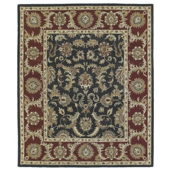 Hand-Tufted Joaquin Black Kashan Wool Rug - 9' x 12'