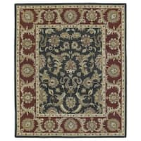 Hand-Tufted Joaquin Black Kashan Wool Rug - 9' x 12'