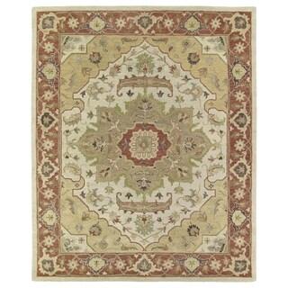 Hand-Tufted Joaquin Heriz Oatmeal Wool Rug (8' x 10')