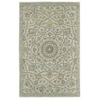 Hand-Tufted Joaquin Oatmeal Medallion Wool Rug - 10' x 14'