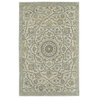 Hand-Tufted Joaquin Oatmeal Medallion Wool Rug (8' x 10') - Ivory - 8' x 10'
