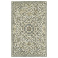 Hand-Tufted Joaquin Oatmeal Medallion Wool Rug - 8' x 10'