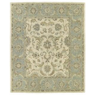 Hand-Tufted Joaquin Beige Kashan Wool Rug (2' x 3')