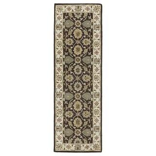 Hand-Tufted Joaquin Brown Kashan Wool Rug (2'6 x 8')