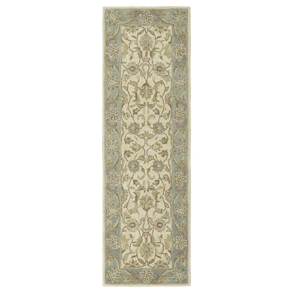 "Hand-Tufted Joaquin Beige Kashan Wool Rug (2'6 x 8') - 2'6"" x 8'"