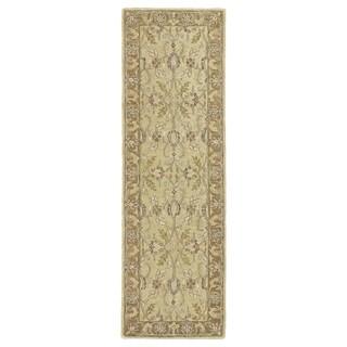 Hand-Tufted Joaquin Camel Agra Wool Rug (2'6 x 8') - 2'6 x 8'