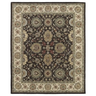 Hand-Tufted Joaquin Brown Kashan Wool Rug (4' x 6') - 4' x 6'