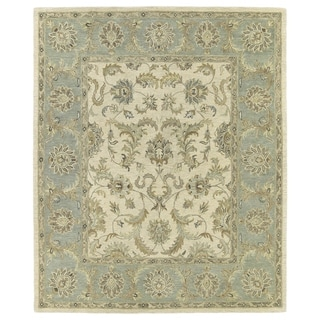 Hand-Tufted Joaquin Beige Kashan Wool Rug (4' x 6')