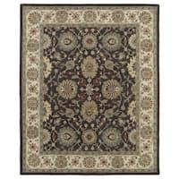 Hand-Tufted Joaquin Brown Kashan Wool Rug - 5' x 7'9