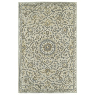 Hand-Tufted Joaquin Oatmeal Medallion Wool Rug (4' x 6')