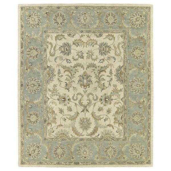 Hand-Tufted Joaquin Beige Kashan Wool Rug - 5' x 7'9