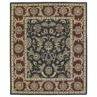 Hand-Tufted Joaquin Black Kashan Wool Rug (5' x 7'9)