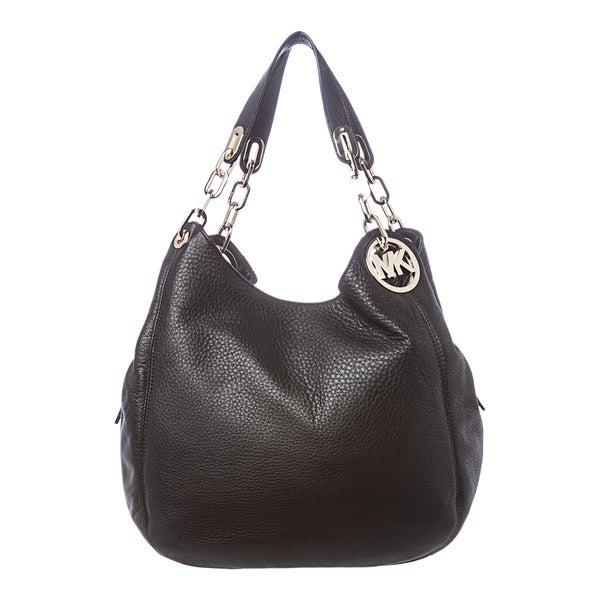 49ad82519610 MICHAEL Michael Kors 'Fulton' Large Black Leather Shoulder Bag