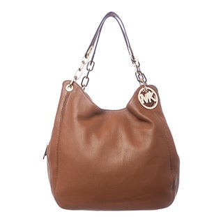 MICHAEL Michael Kors 'Fulton' Large Luggage Leather Shoulder Bag