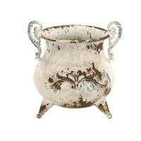 Maison Rouge Lamartine White Rustic Metal Vase