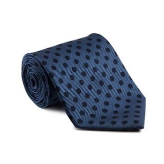 Platinum Ties Men's 'Navy Dot' Necktie