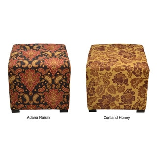 Merton 4-button Tufted Square Ottoman (Option: Gold)