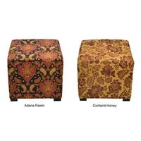 Porch & Den Twin Lakes Cordoba Patterned 4-button Tufted Square Ottoman