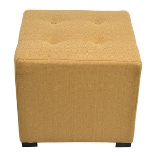 Link to Porch & Den Cordoba 4-button Tufted Square Ottoman Similar Items in Ottomans & Storage Ottomans