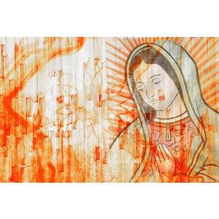 Handmade Mary Abstract Canvas Art