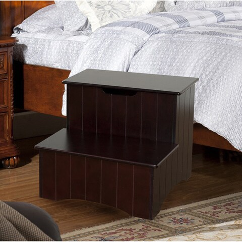 K&B Wood Storage Step Stool