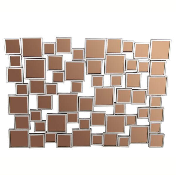 Privilege Metal Wall Mirrors Decor - Brown