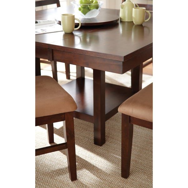 Greyson Living Emery With Lazy Susan Dining Table Set   Free Shipping Today    Overstock.com   15910554