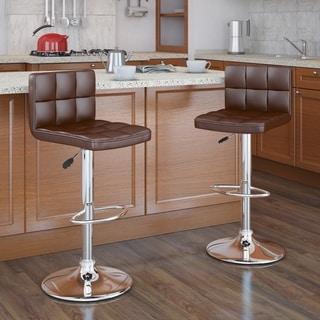 Link to Strick & Bolton Campana Adjustable Leatherette Bar Stool (Set of 2) Similar Items in Dining Room & Bar Furniture
