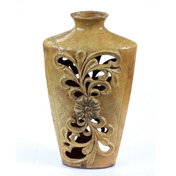 Privilege Large Pierced Ceramic Vase