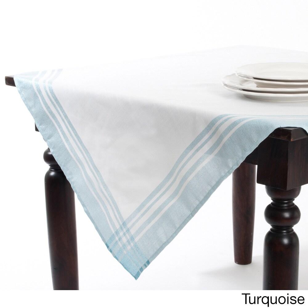 Saro Plaid Table Topper (Blue) (Polyester, Border)