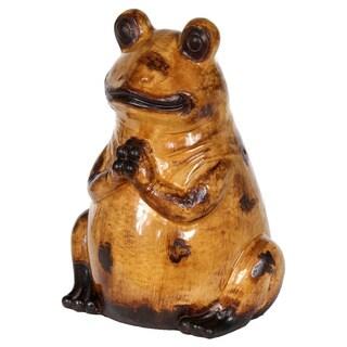 Privilege Yellow Medium Decorative Ceramic Frog
