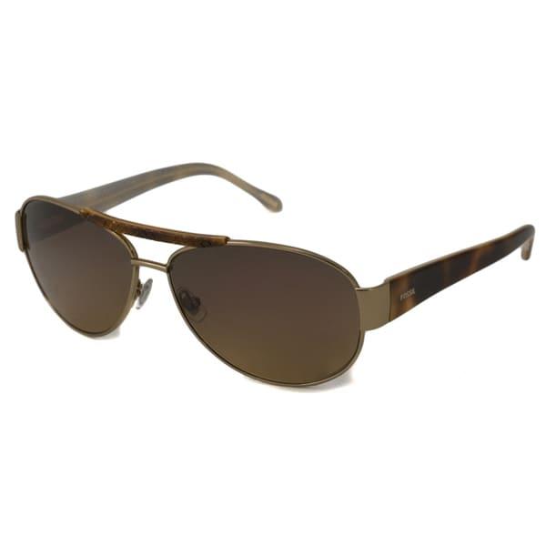 Fossil Women's Jennifer Aviator Sunglasses - Gold/Havana