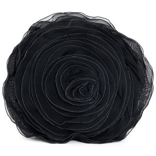 Rose Design Throw Pillow