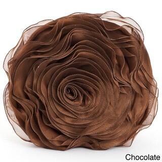 Rose Design Throw Pillow (Option: Chocolate)
