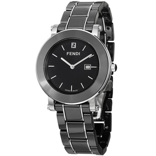 Fendi Women's F641110 'Ceramic' Black Dial Black Ceramic Bracelet Watch