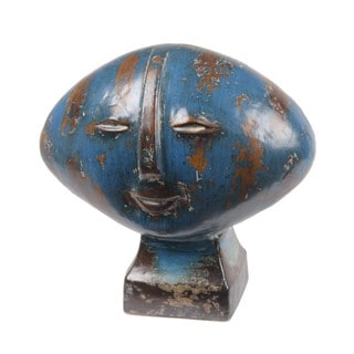 Privilege Blue Wide Head Ceramic Sculpture