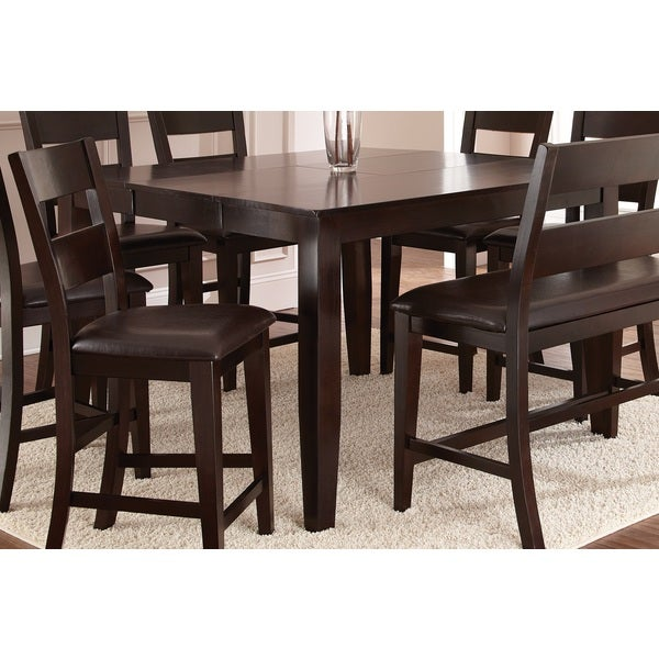 Greyson Living Vaughn Espresso 54-inch Square Counter Height Table