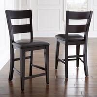 Oliver & James Leon Espresso 24-inch Chair Set (Set of 2)