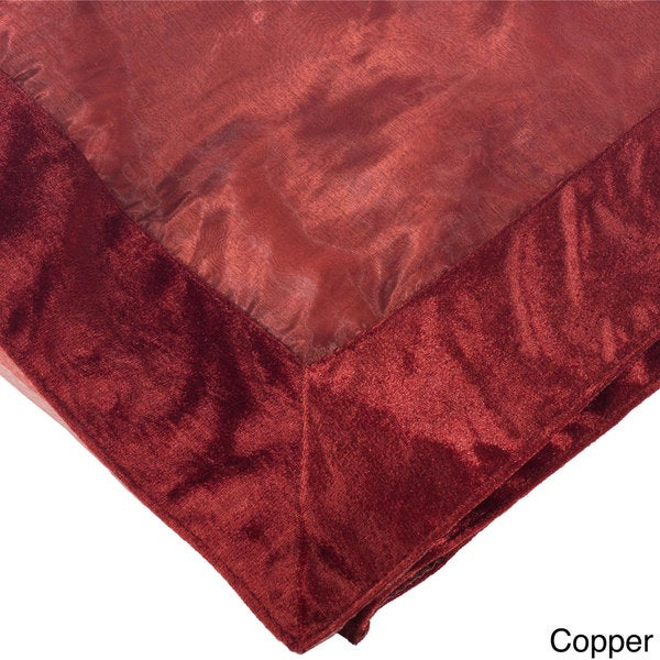 Sheer Velvet Trimmed Table Linens