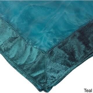 Sheer Velvet Trimmed Table Linens