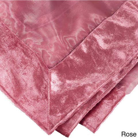 Sheer Velvet Trimmed Tablecloth