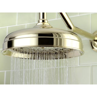 Victorian Polished Brass 8-inch Raindrop Showerhead