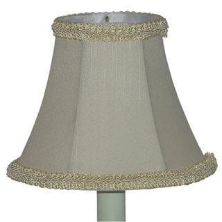 Crown Lighting Cream Braided Trim Hexagonal Chandelier Lampshades (Set of 2)