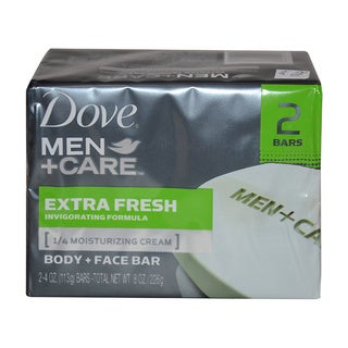 Dove Men + Care Body and Face Bars Extra Fresh 4-ounce Soap (Set of 2)