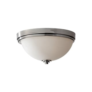 Feiss Malibu 3 - Light Indoor Flush Mount, Polished Nickel