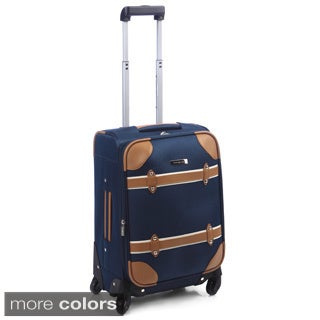 Rockland 20-inch Vintage Trunk Carry On Spinner Upright Luggage ...