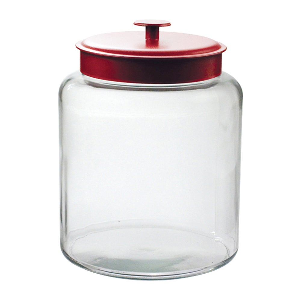 Anchor Hocking 2-gallon Montana Jar with Red Cover (Glass)